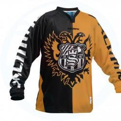 Salming 2FACE  Goalie JSY SR florbola vārtsarga krekls (1149403-0736) foto informatīvs raksturs krekla vizuālajam izskatam.krāsu skatīt produkta specifikācijā.