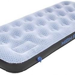 High Peak Comfort Plus Single Airbed piepūšamā gulta ar integrētu kājas pumpi (40023)