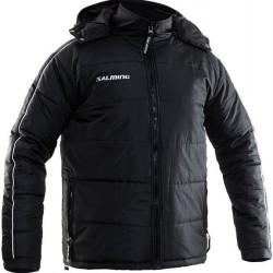 Salming Thermo Flow Jacket Black sporta vējjaka ar kapuci (TFJ1)